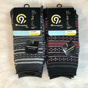 4 Pair Champion Outdoor Duo Dry C9 Crew Socks